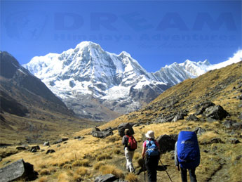 On the way to Annapurna Base Camp Trek